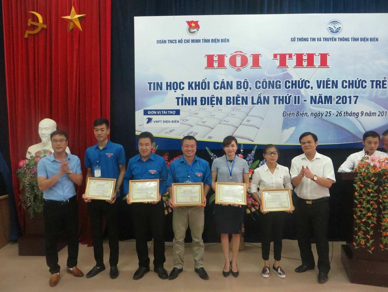 Đoàn Trung tâm Ngoại ngữ - Tin học đạt giải Nhất tại Hội thi Tin học khối cán bộ, công chức, viên chức trẻ tỉnh Điện Biên lần thứ II năm 2017