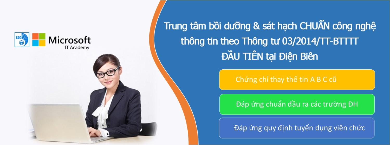 Chứng chỉ ứng dụng CNTT cơ bản tại Trung tâm Ngoại ngữ - Tin học tỉnh Điện Biên